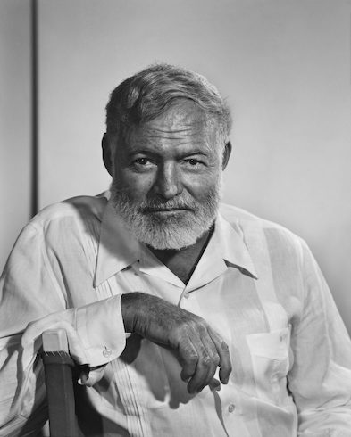 Ernest Hemingway by Yousuf Karsh